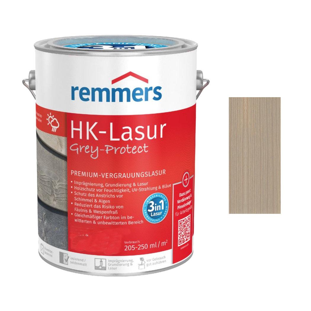 5 L Remmers HK-Lasur Grey-Protect Silbergrau 3in1