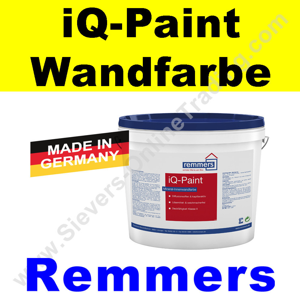 remmers iq paint wandfarbe innend mmung. Black Bedroom Furniture Sets. Home Design Ideas