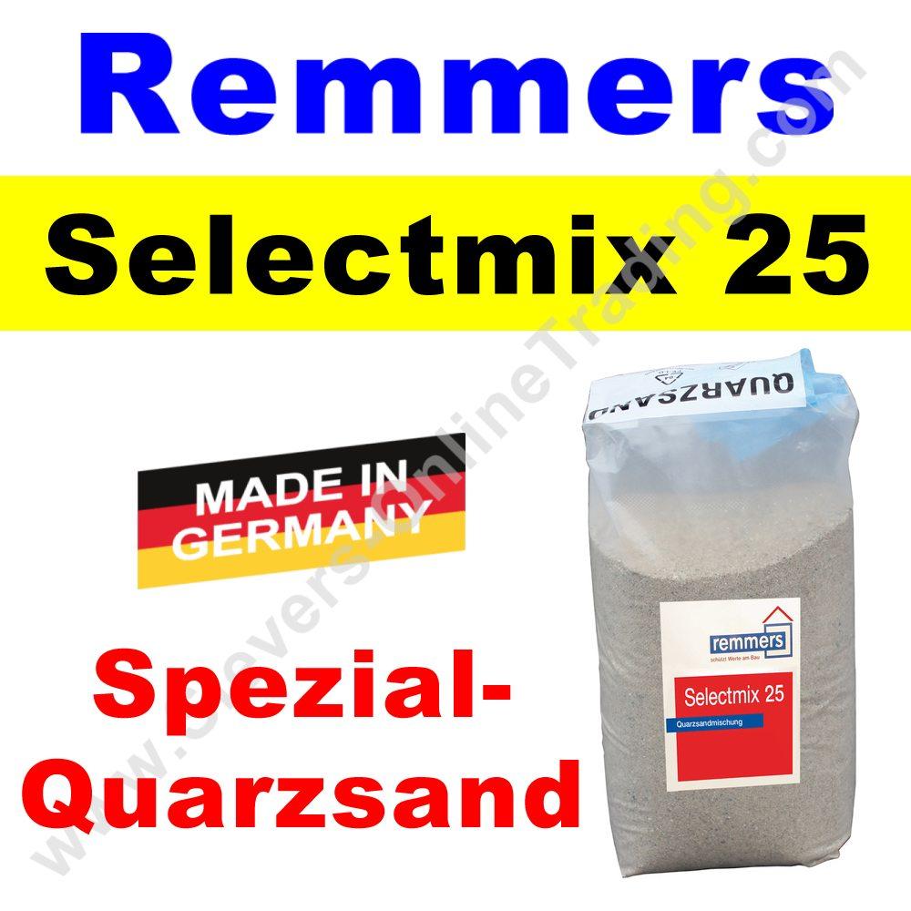 25 kg remmers selectmix 25 quarzsand f r epoxidharz. Black Bedroom Furniture Sets. Home Design Ideas
