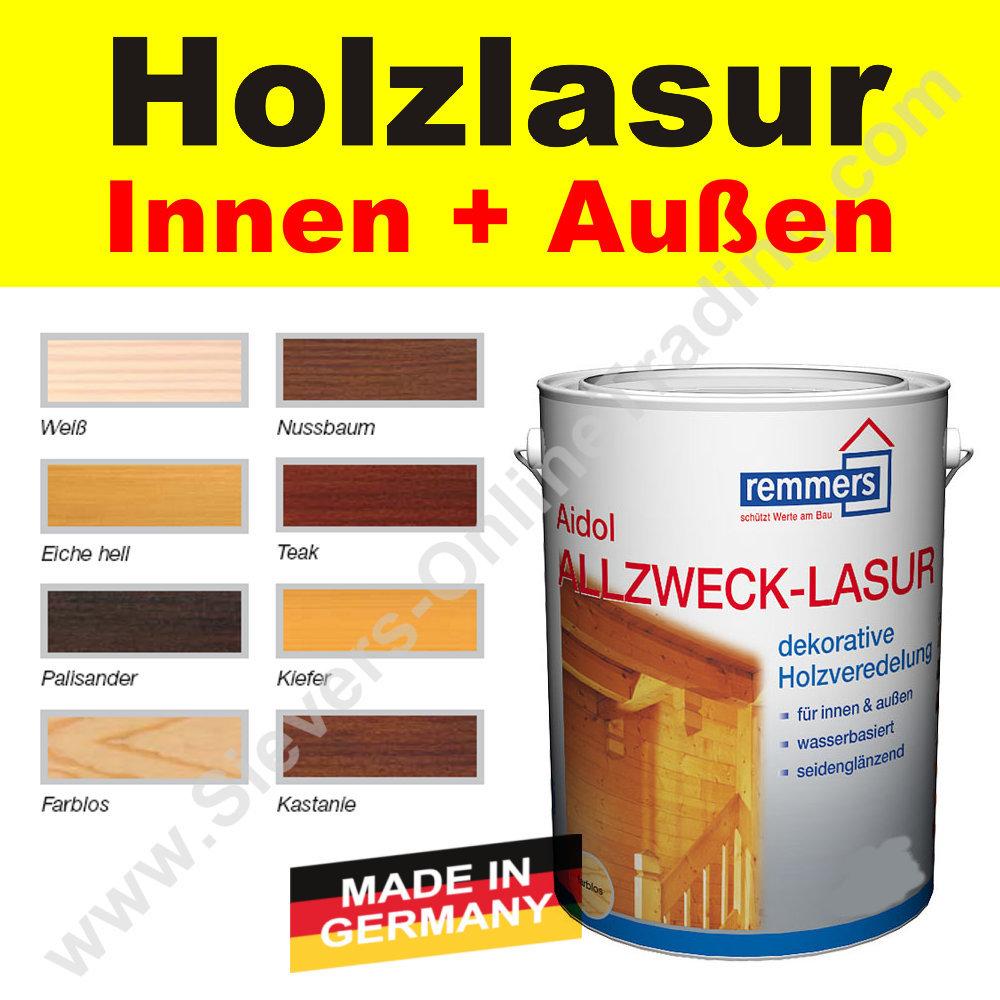 Beliebt Remmers Allzweck-Lasur Holzschutz Holzlasur innen, außen RL52