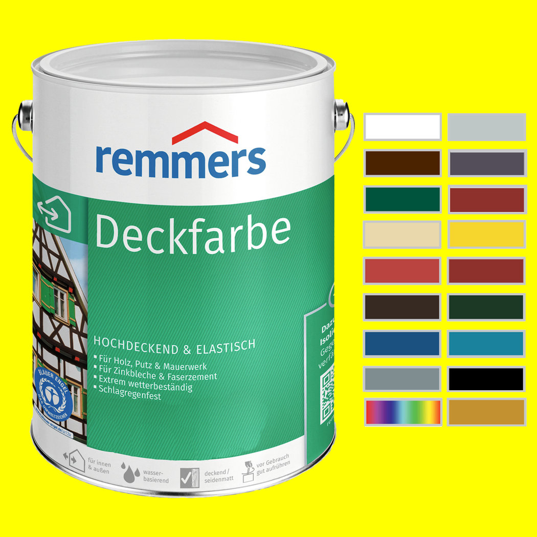 Fabulous Remmers Deckfarbe, Holzfarbe Wetterschutzfarbe Farbe Innen Außen QR48