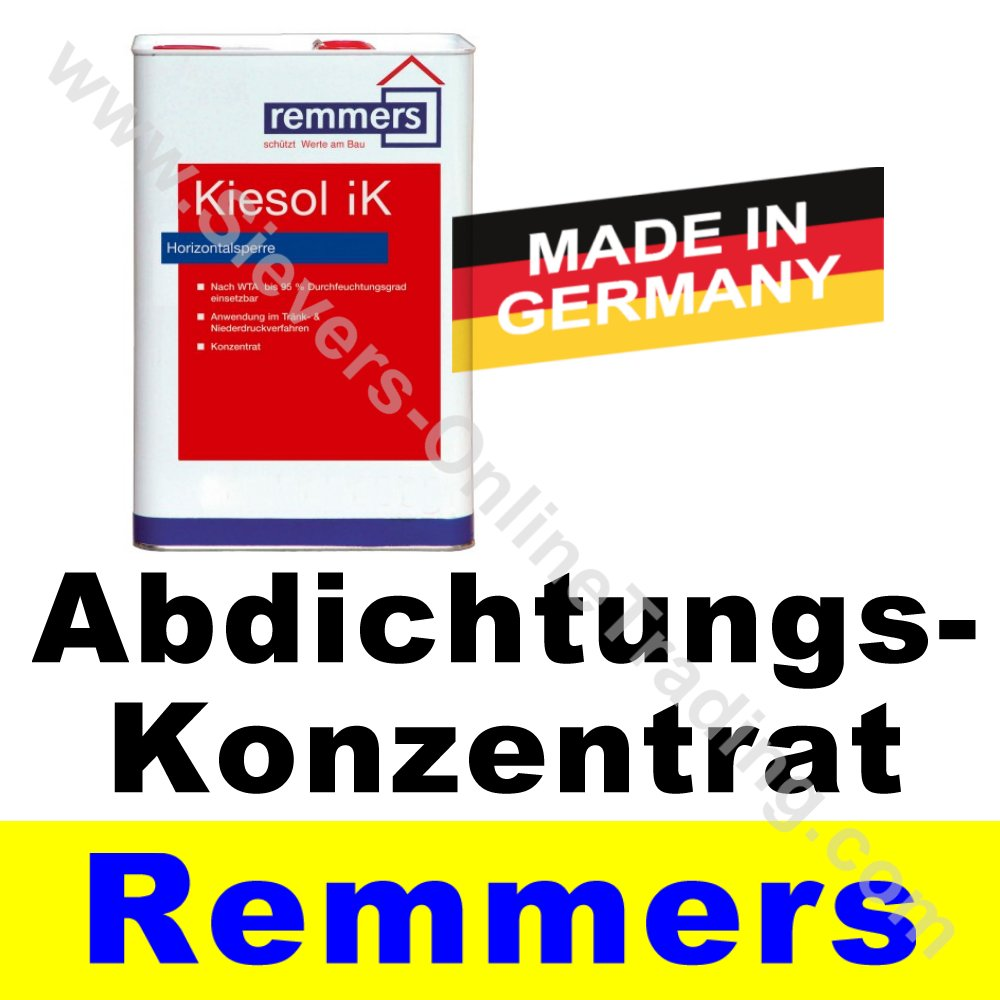 Super Remmers Kiesol iK, Verkieselungskonzentrat, Kellerabdichtung LL-76